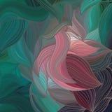 Картина волны вектора абстрактная нарисованная вручную Стоковая Фотография