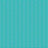 Картина волн вектора запаса безшовная черная белая на предпосылке зеленого цвета aqua Бесплатная Иллюстрация