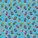 картина водолаза шаржа безшовная Стоковое Изображение