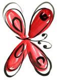 Картина впечатления бабочки акварели Стоковая Фотография