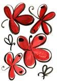 Картина впечатления бабочки акварели Стоковые Фото