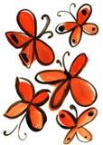 Картина впечатления бабочки акварели Стоковые Фотографии RF