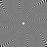 Картина вращения, круговая предпосылка Излучать линии конспект иллюстрация штока