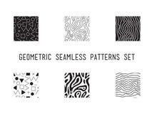 Картина всеобщего вектора lineal геометрическая безшовная Стоковое Изображение