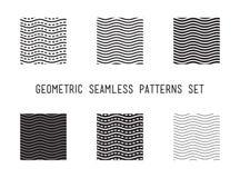 Картина всеобщей волны вектора lineal геометрической безшовная Стоковое Изображение