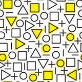 Картина всеобщей моды вектора геометрическая безшовная Стоковое Фото