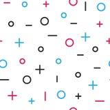 Картина всеобщей моды вектора геометрическая безшовная Стоковая Фотография RF
