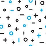 Картина всеобщей моды вектора геометрическая безшовная Стоковые Изображения RF