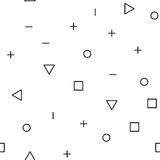 Картина всеобщей моды вектора геометрическая безшовная Стоковое Изображение
