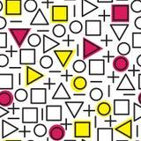 Картина всеобщей моды вектора геометрическая безшовная Стоковые Фото