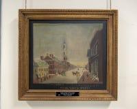 Картина второй пресвитерианской церков на улице свода, Филадельфии стоковые изображения