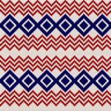 Картина вышивки или knit русская и украинская национальная безшовная Стоковое Фото