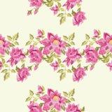 Картина вышивки красочная этническая флористическая безшовная Стоковые Фото