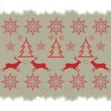 Картина вышивки крестиком вышивки рождества Стоковые Фото