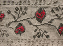 картина вышивки предпосылки Стоковое Изображение RF