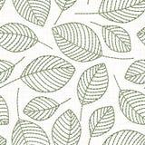 Картина вышивки флористическая безшовная на текстуре linen ткани бесплатная иллюстрация