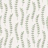 Картина вышивки флористическая безшовная на текстуре linen ткани иллюстрация вектора