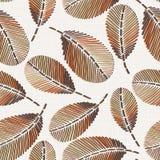 Картина вышивки флористическая безшовная на текстуре linen ткани иллюстрация штока