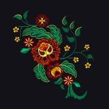 Картина вышивки для дизайна Стоковые Изображения