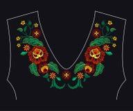 Картина вышивки для дизайна Стоковые Изображения RF