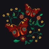 Картина вышивки для дизайна Стоковая Фотография