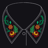 Картина вышивки для дизайна Стоковое Изображение