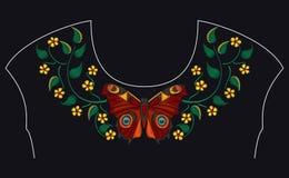 Картина вышивки для дизайна Стоковые Фотографии RF