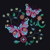 Картина вышивки для дизайна Стоковое Фото