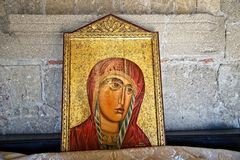 Картина в акрополе Ialysos это найдена в и вокруг холме Philerimos в Ialysos Родосе стоковое изображение