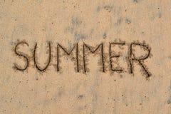 Картина в песке - лето 1 Стоковые Изображения RF