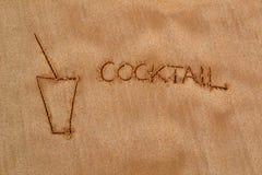 Картина в песке - коктеиль Стоковые Изображения RF