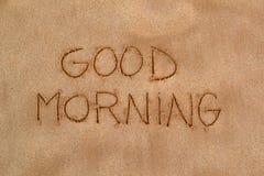 Картина в песке - доброе утро Стоковые Фотографии RF