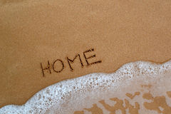 Картина в песке - домашнем Стоковое Изображение