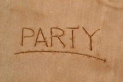 Картина в песке - партия Стоковая Фотография RF
