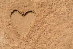 Картина в песке - сердце Стоковое Изображение RF