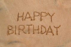 Картина в песке - с днем рождения Стоковое Изображение RF