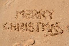 Картина в песке - с Рождеством Христовым Стоковое Фото