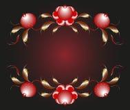 Картина в форме бутонов и листьев цветка Стоковое Изображение RF