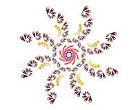 Картина в форме цветка Стоковое Изображение RF