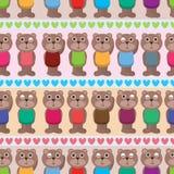 Картина влюбленности влюбленности носа медведя горизонтальная безшовная Стоковые Фото