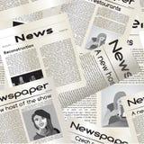 Картина газеты безшовная Стоковое Изображение