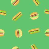 Картина гамбургера и сандвича безшовная Стоковое Фото