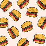 Картина гамбургера иллюстрация штока