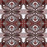 Картина геометрии винтажная флористическая безшовная Стоковое Изображение RF