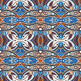 Картина геометрии винтажная флористическая безшовная Стоковые Изображения