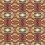 Картина геометрии винтажная флористическая безшовная Стоковые Изображения RF
