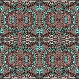 Картина геометрии винтажная флористическая безшовная Стоковая Фотография