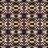 Картина геометрии винтажная флористическая безшовная Стоковые Фото