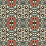 Картина геометрии винтажная флористическая безшовная Стоковые Фотографии RF
