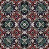 Картина геометрии винтажная флористическая безшовная Стоковое Фото